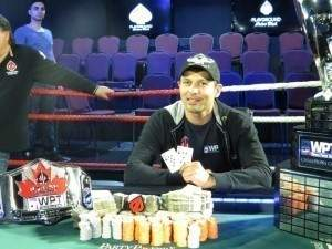 Amir Babakhani, Champion of the 2013 WPT Canadian Spring Championship