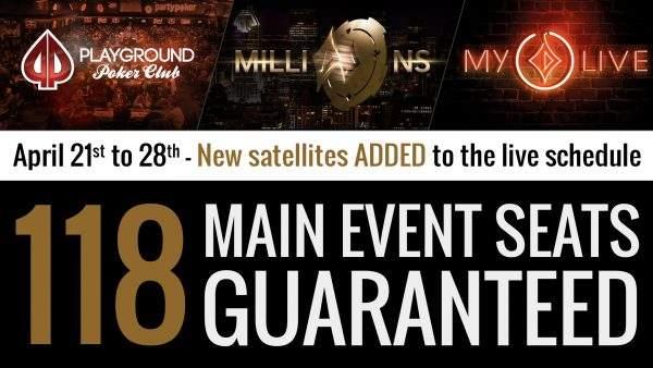 More Millions Main Event Satellites Scheduled Playground