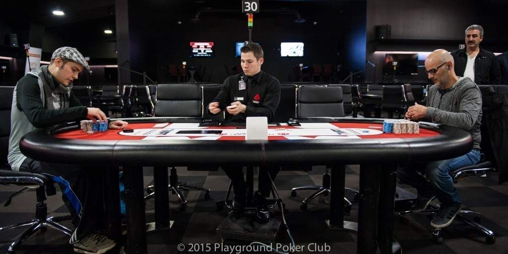 Heads-up between Philippe Lauzon and Rick Shamshoum