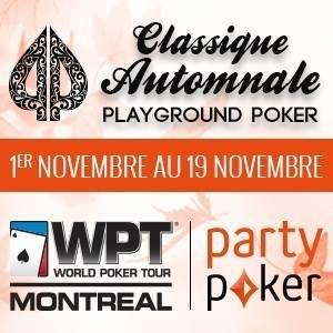 Partypoker.net présente la Classique Automnale Playground Poker