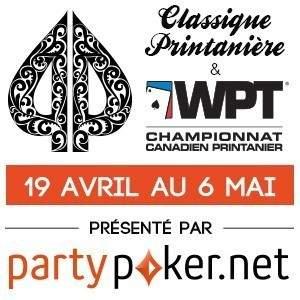 Classique Printanière Playground Poker avec le partypoker.net Championnat Canadien Printanier du WPT